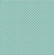 Spot by Makower UK - 5376 - White Spots on Teal - 830_T3 - Cotton Fabric